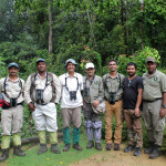 Bird and Wildlife Team and fellow birders at Sinharaja rainforest on the Global Big Day  Deepal Warakagoda, Chinthaka De Silva, Subasiri Liyanage, Lester Perera, Dulan Ranga, Sudheera Bandara and Uditha Hettige in Sinharaja.